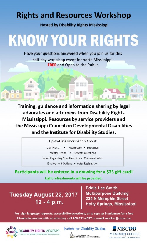 Rights and Resources Workshop Holly Springs 2017